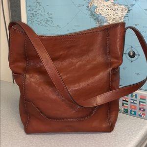 Frye Leather Cognac Hobo Bag